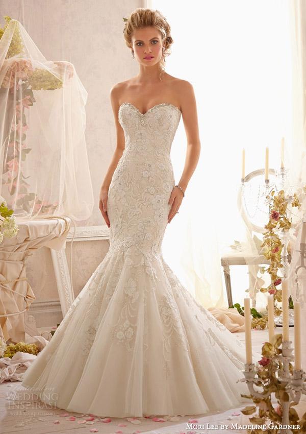 mori lee by madeline gardner bridal spring 2014 strapless wedding dress style 2623