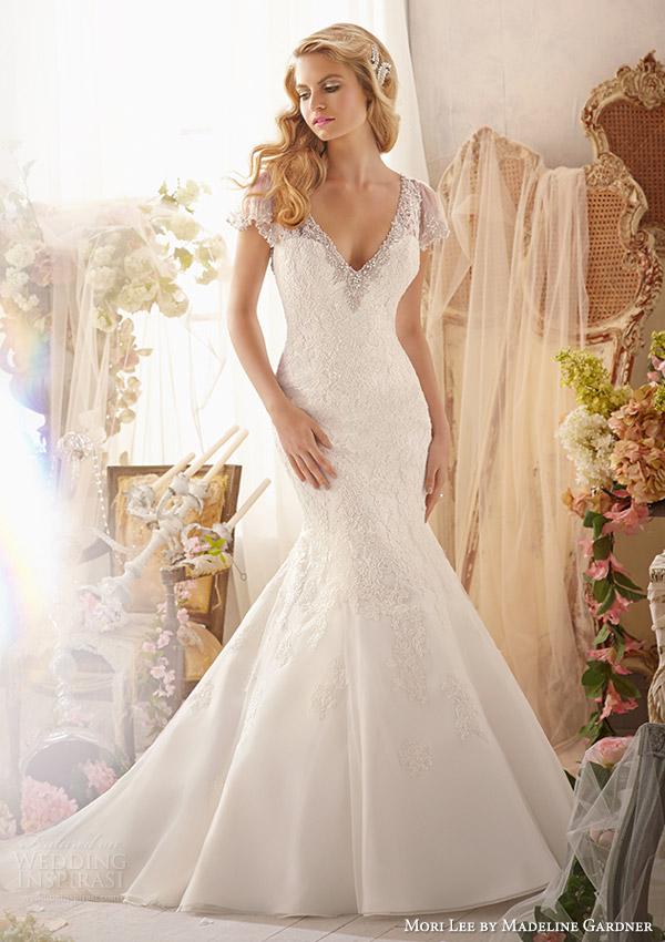 Mori lee by madeline gardner wedding dresses spring 2014 for Wedding dress trim beading