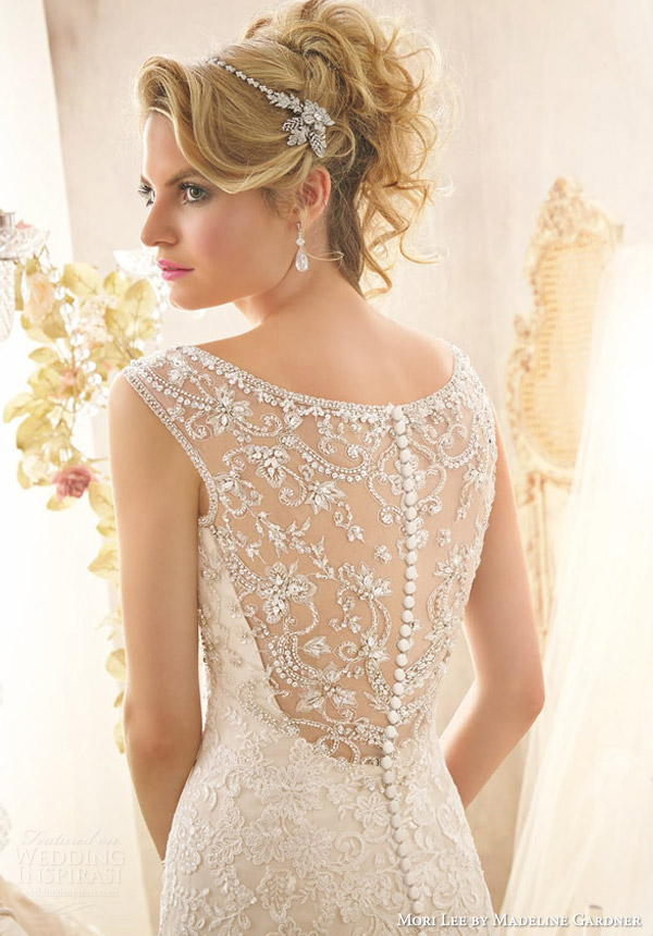 mori lee by madeline gardner bridal spring 2014 wedding style 2601 intricate beaded back