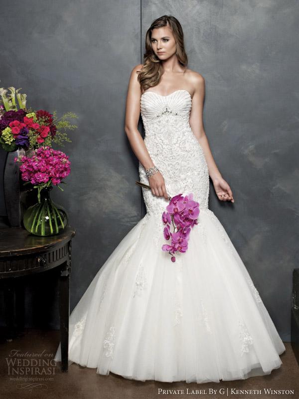 private label por g Kenneth Winston estilo 2014 vestido de noiva 1535