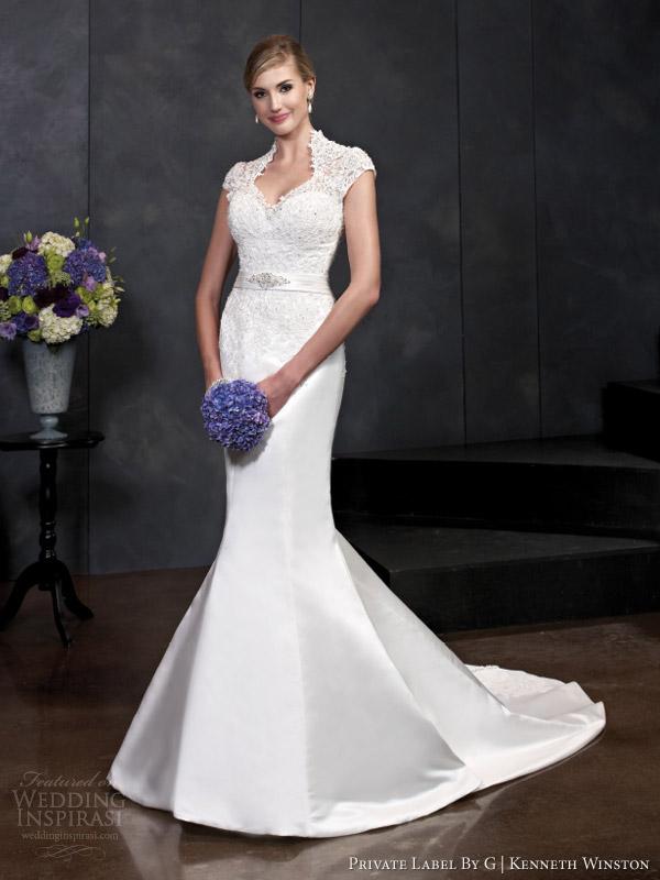 private label por g Kenneth Winston estilo primavera 2014 vestido de noiva manga cap 1540