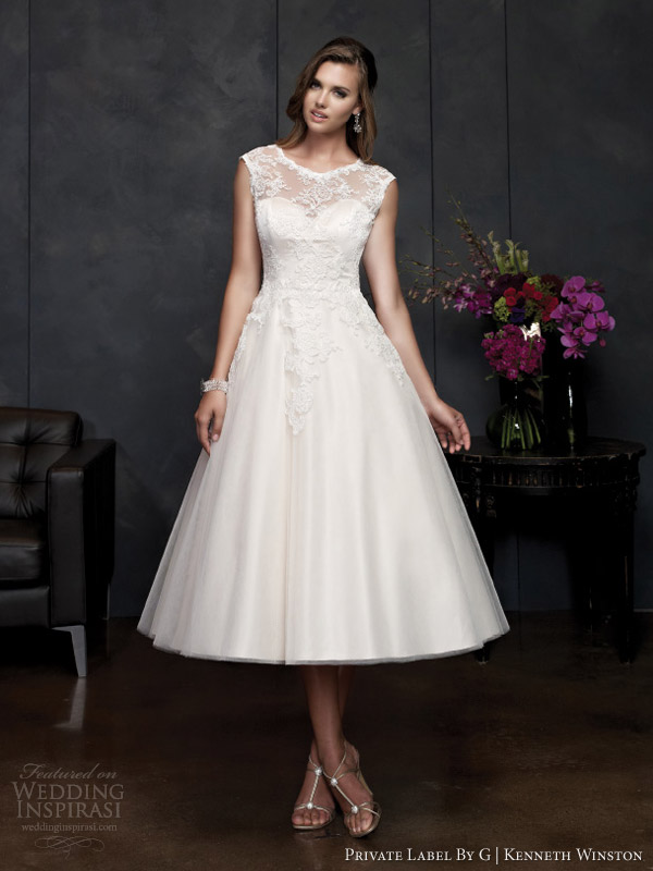 private label por vestidos de noiva g Kenneth Winston primavera 2014 de baile sem alças vestido estilo 1550