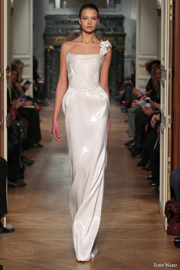tony ward couture spring 2014 one shoulder white dress
