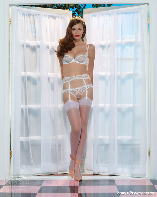 White 2014 Tesla Model S Wallpaper 03: Agent Provocateur Spring 2014 Bridal Lingerie