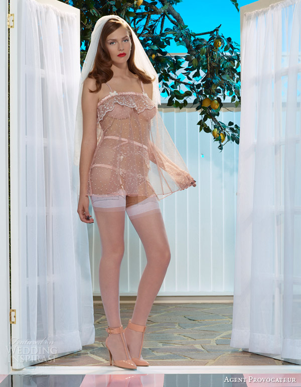 54916a5707 agent provocateur bridal lingerie pale pink ambrose baby doll brief