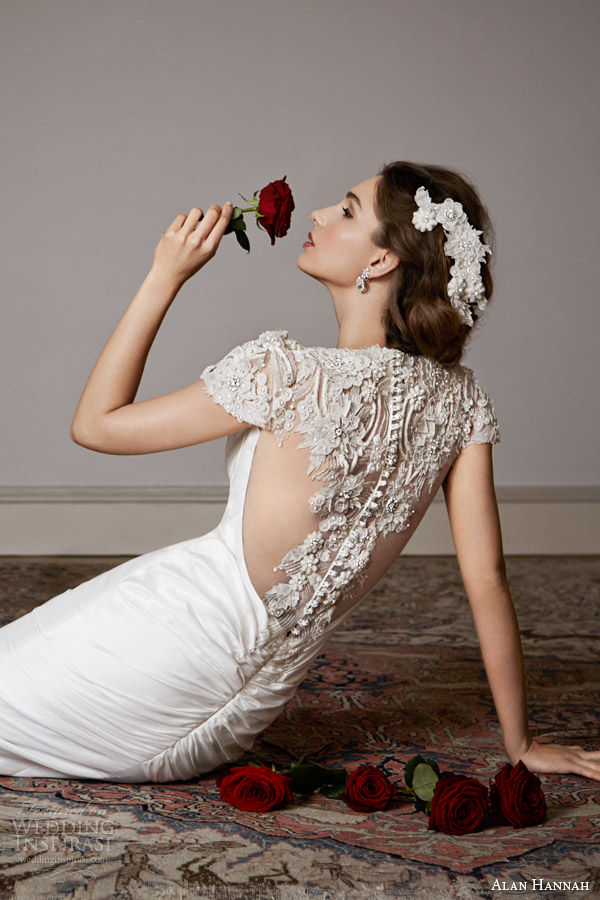 alan hannah 2014 gwyneth wedding dress illusion back beaded detail