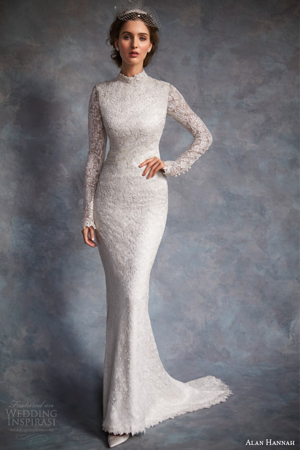 alan hannah bridal 2014 bacall wedding dress
