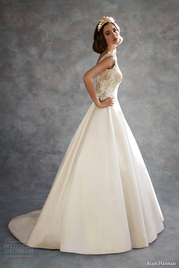 alan hannah bridal 2014 timeless beauty betttie sleeveless wedding dress