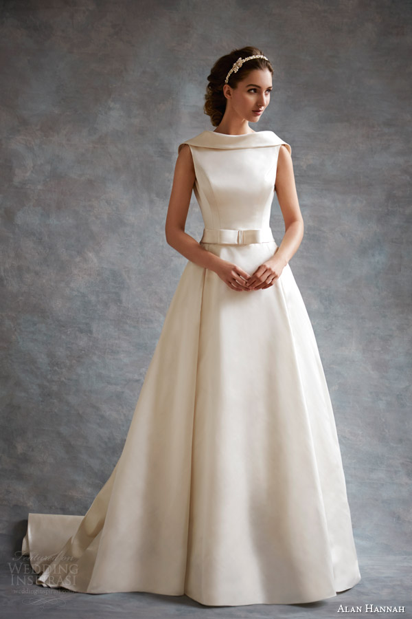 alan hannah wedding dresses 2014 evita gown bettie headband