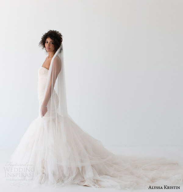 alyssa kristin bridal 2014 alessandra strapless wedding dres side view