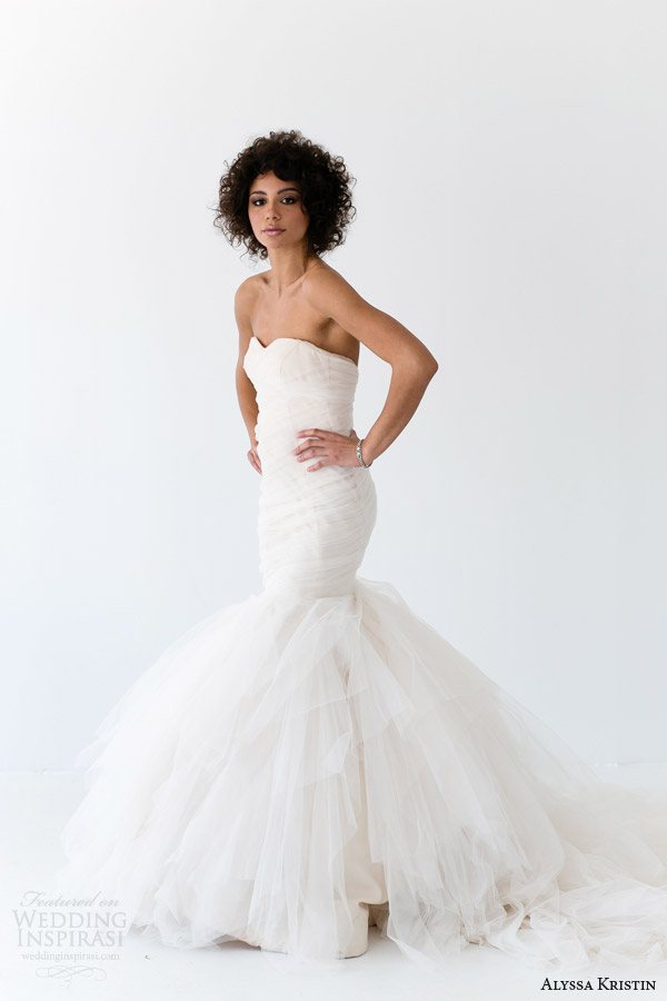 alyssa kristin bridal 2014 alessandra strapless wedding dress