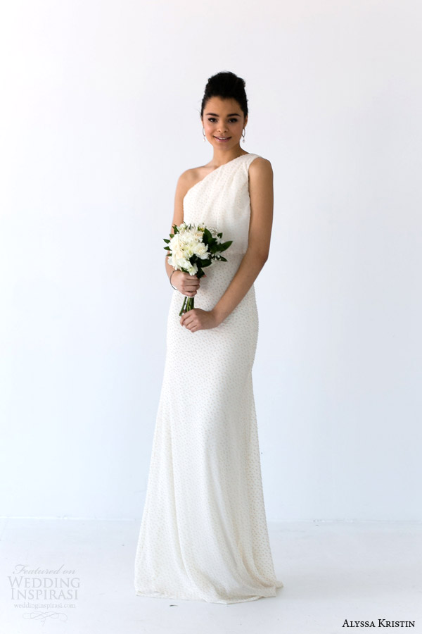 alyssa kristin bridal 2014 aria one shoulder wedding dress