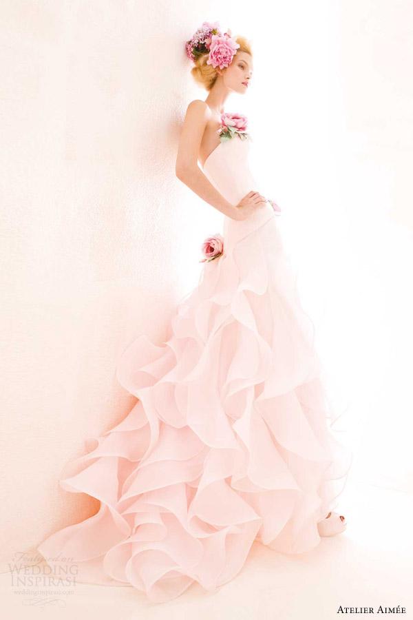 atelier aimee 2014 pink wedding dress cindy