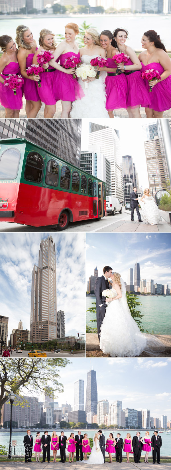 Chic city wedding in downtown chicago wedding inspirasi