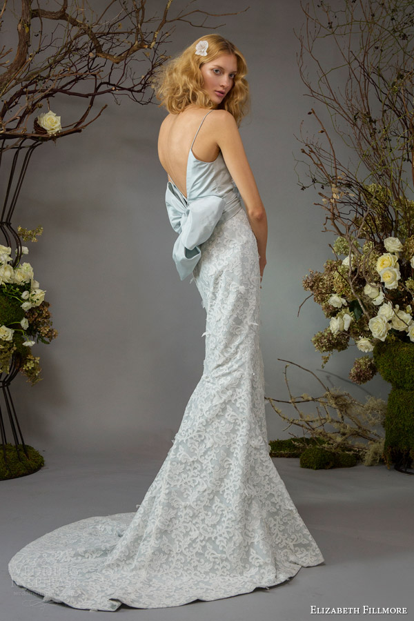 elizabeth fillmore bridal fall 2014 josephine powder blue wedding dress back train