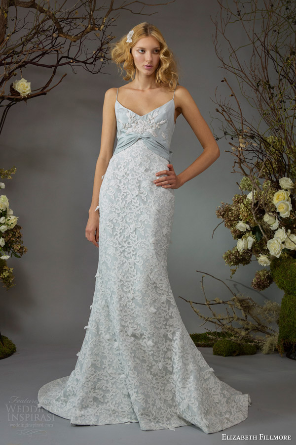 elizabeth fillmore bridal fall 2014 josephine powder blue wedding dress