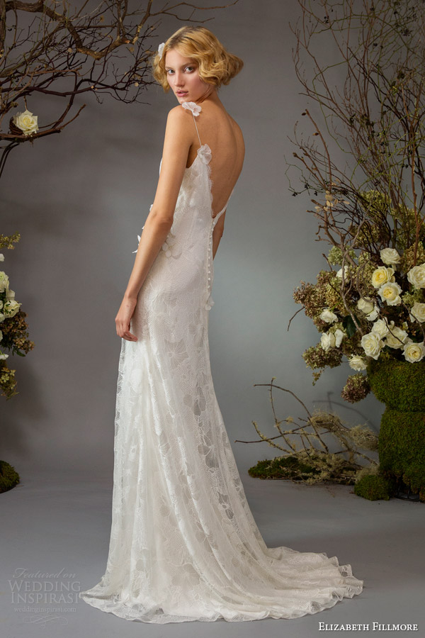 elizabeth fillmore fall 2014 bridal willa wedding dress straps back view train
