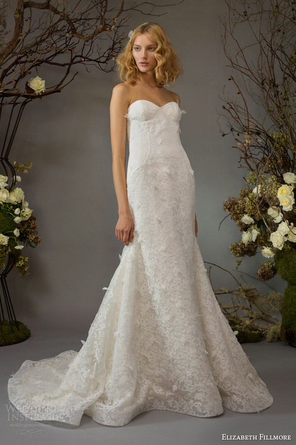 elizabeth fillmore wedding dress fall 2014 ella strapless gown