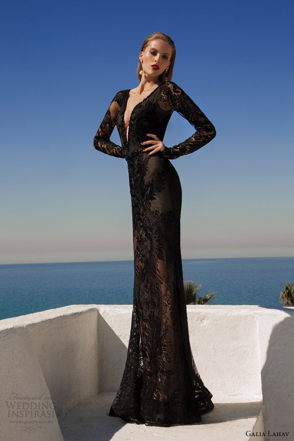 galia lahav 2014 haute couture comet black wedding dress evening wear