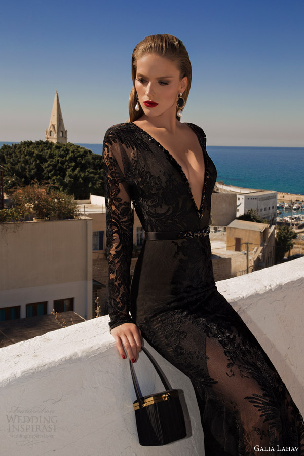 galia lahav 2014 moonstruck comet black evening dress