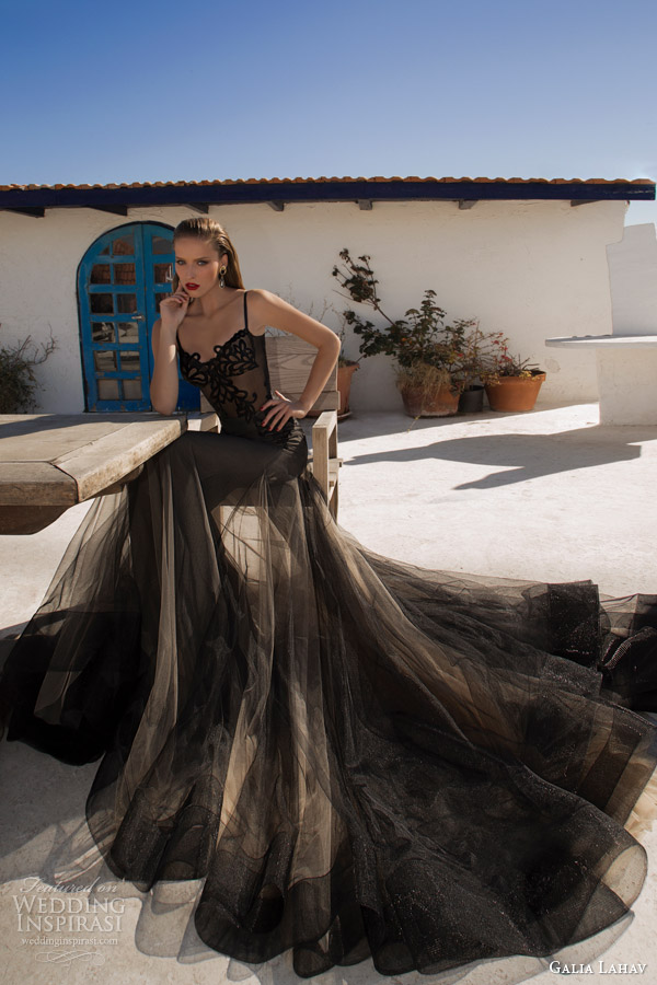 galia lahav couture 2014 neptune evening gown black wedding dress