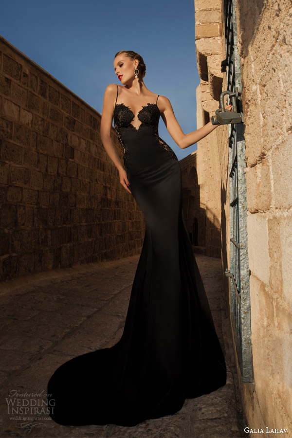 galia lahav couture 2014 Saffron evening gown black wedding dress