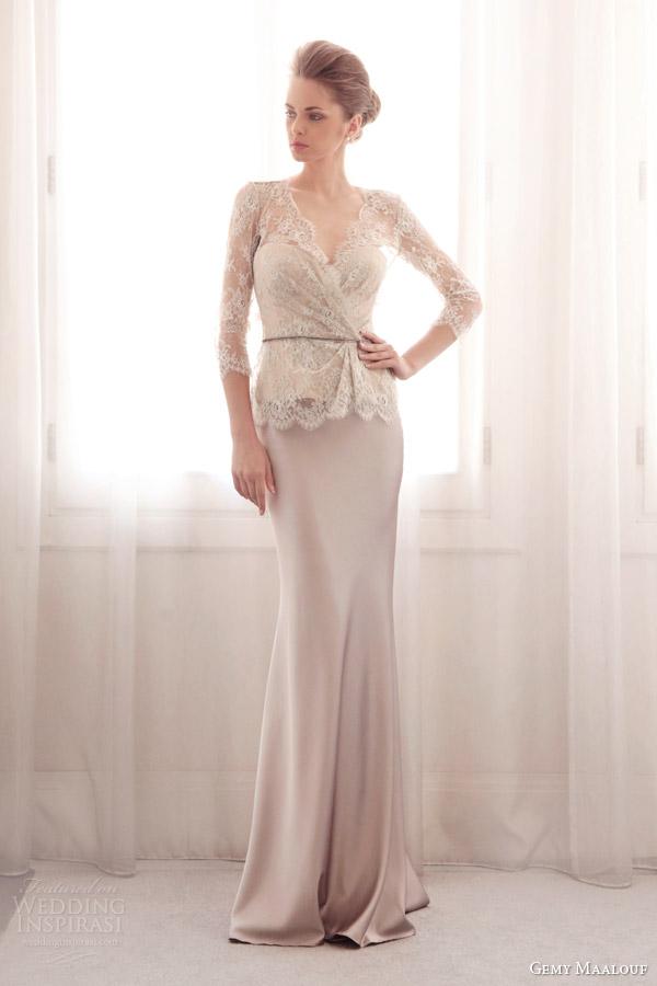 Asymmetric Wedding Dresses 46 Luxury gemy maalouf bridal lace