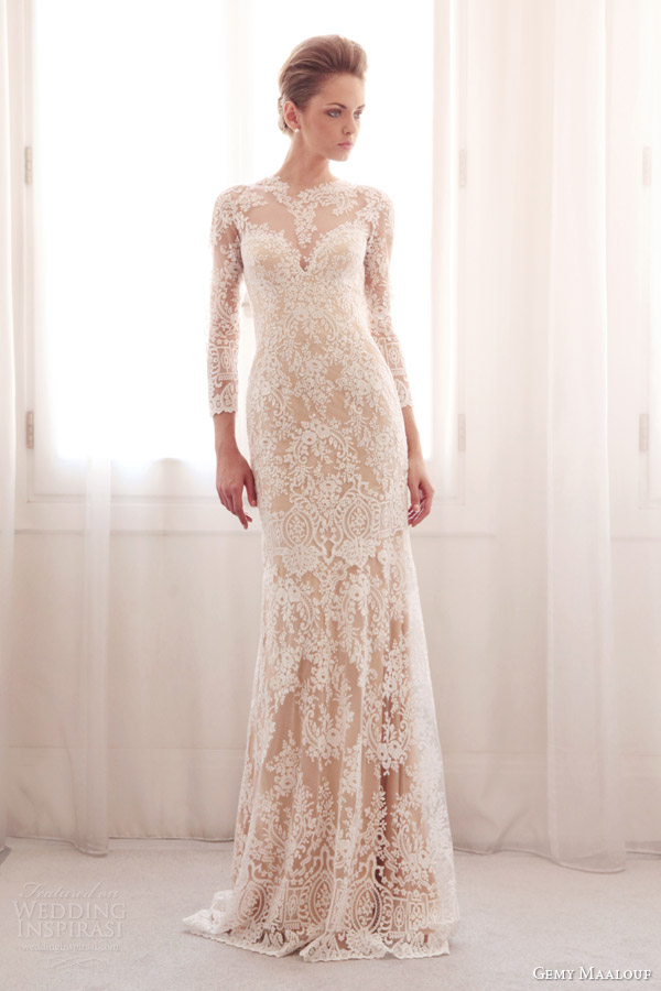Wedding Dresses Lace With Sleeves