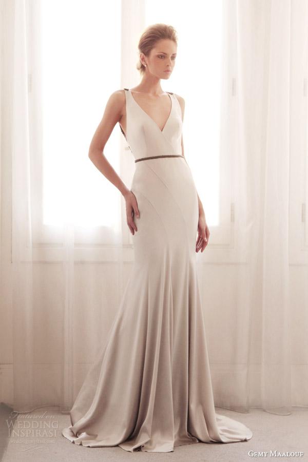 Asymmetric Wedding Dresses 11 Amazing gemy maalouf bridal wedding