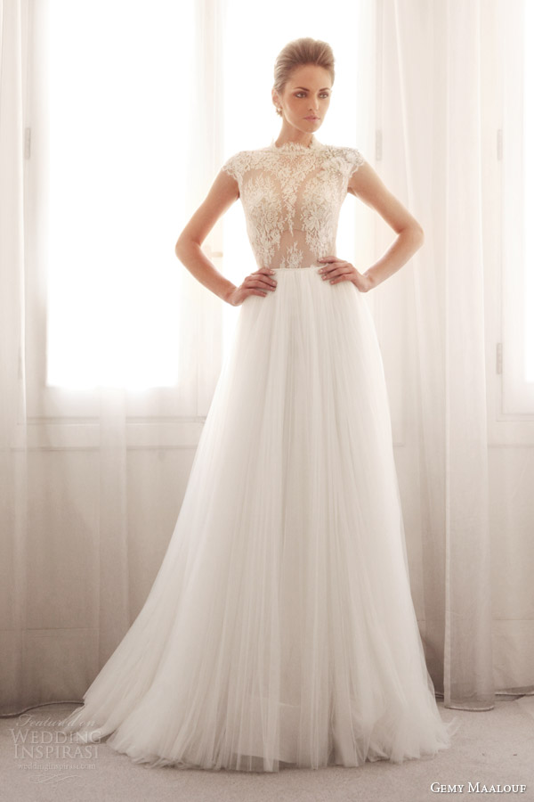 Gemy maalouf bridal 2014 wedding dresses wedding inspirasi for Wedding dress skirt and top