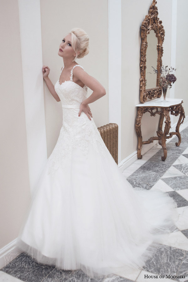 house of mooshki autumn winter 2014 etta princess line wedding dress with straps