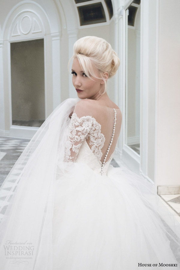 house of mooshki bridal autumn 2014 juliette lace pencil skirt detachable tulle train