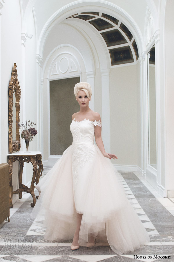 house of mooshki bridal fall 2014 sophia pencil skirt detachable champagne tulle train