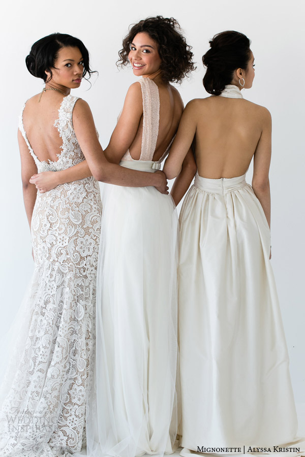 mignonette and alyssa kristin bridal 2014 wedding dresses