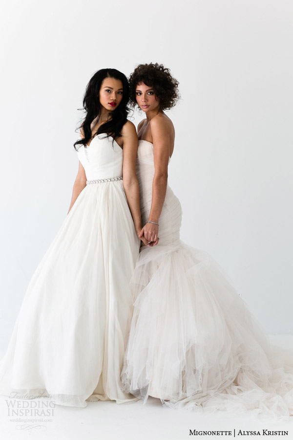mignonette and alyssa kristin bridal collections 2014 wedding dresses