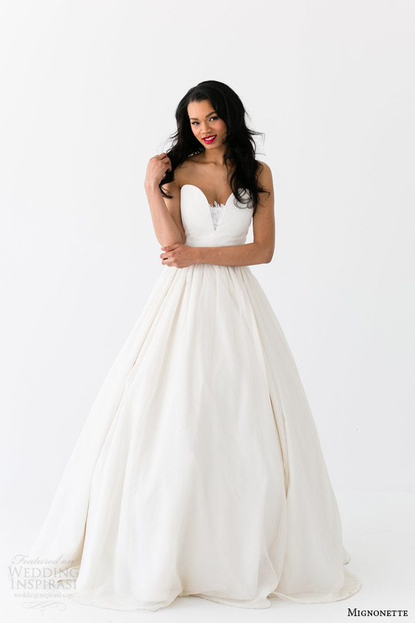 mignonette bridal spring 2014 sarah elizabeth strapless wedding dress