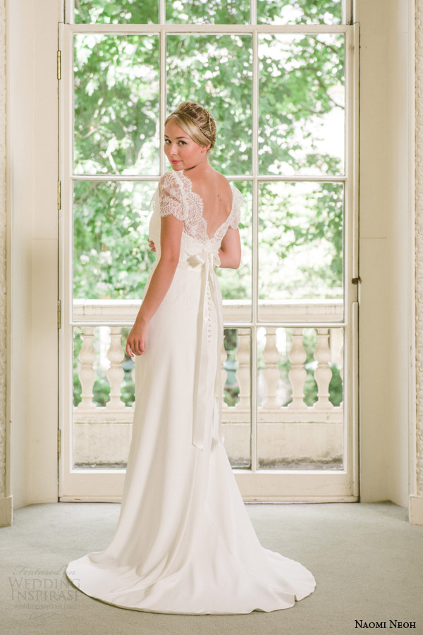 naomi neoh 2014 secret garden celeste wedding dress with jacket back train