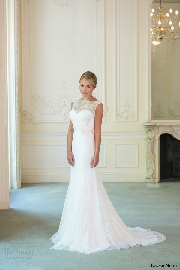 naomi neoh bridal 2014 ivory orchid sleeveless wedding dress