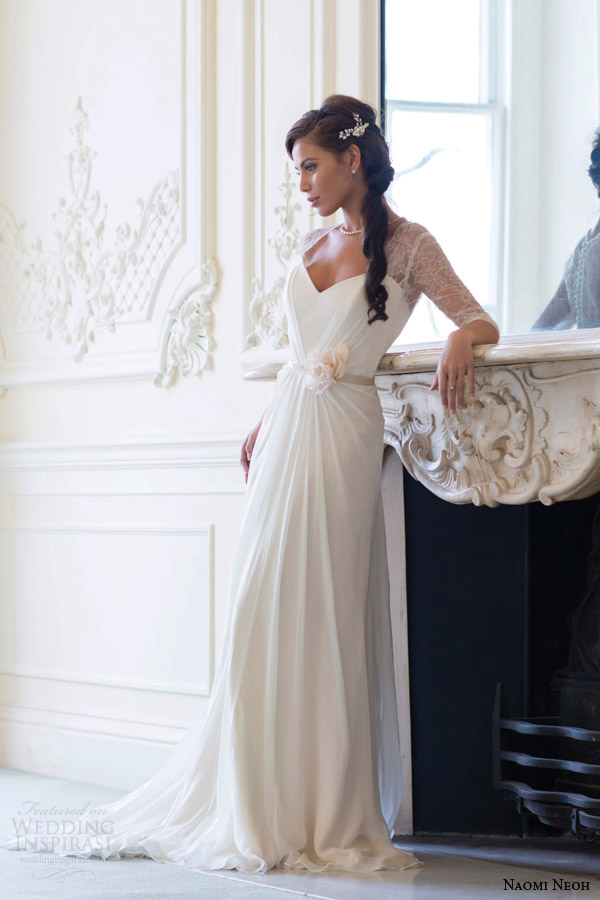 naomi neoh wedding dresses 2014 peony bridal gown with sleeves