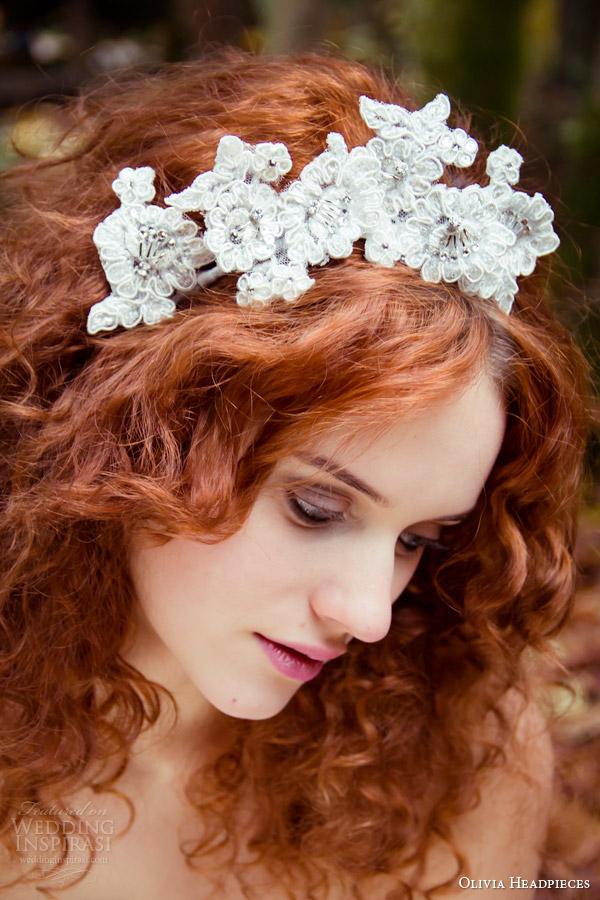 Head Band Wedding 85 Vintage olivia bridal accessories lace