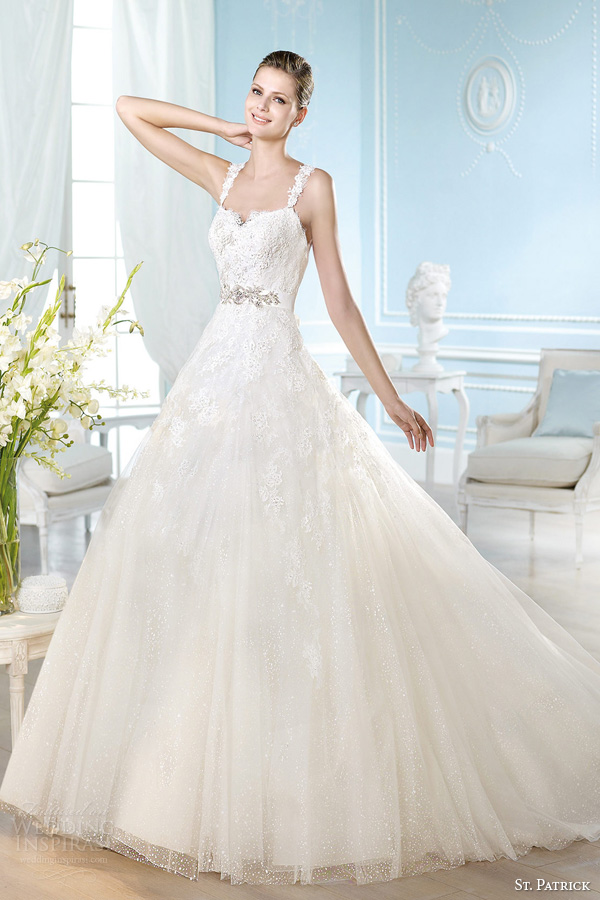 st patrick wedding dresses 2014 bridal hamdi gown with lace straps