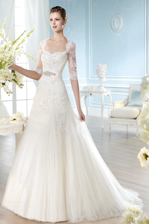 Wedding Dresses 3 4 Sleeves
