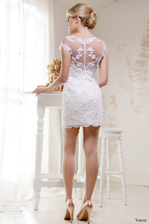 v souz bridal 2014 kate short lace wedding dress
