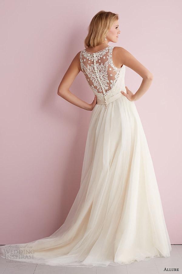 fascínio Romance por bridals fascínio primavera 2014 de casamento sem mangas vestido estilo 2716 ilusão de volta de trem
