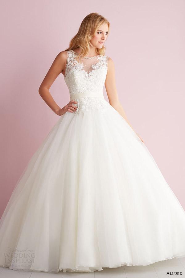 Primavera fascínio Romance 2014 sem mangas casamento vestido estilo 2704