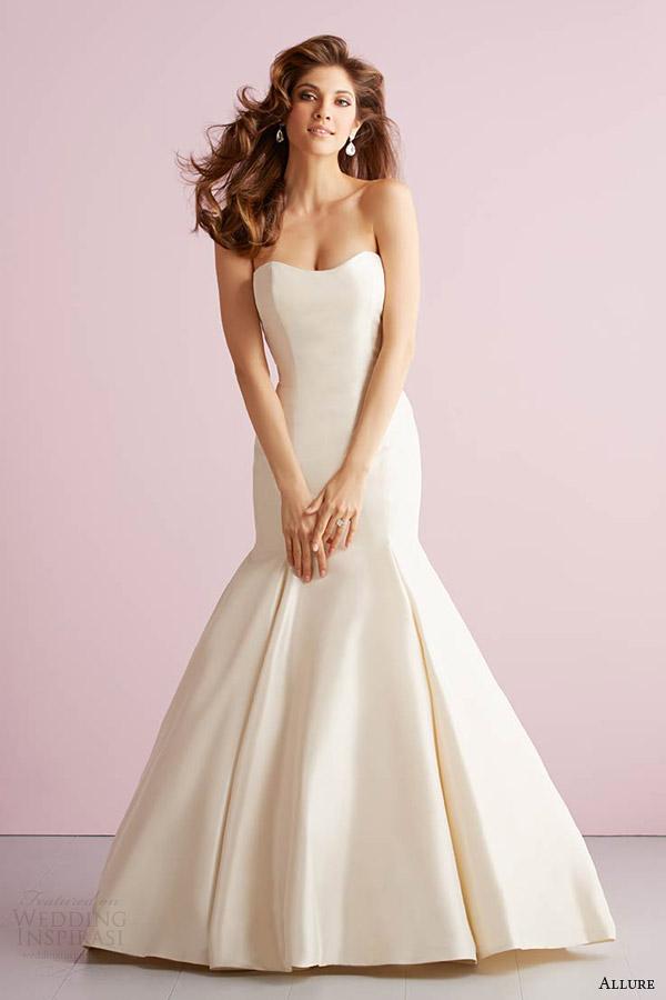 fascínio romance primavera 2014 strapless estilo sereia vestido 2711