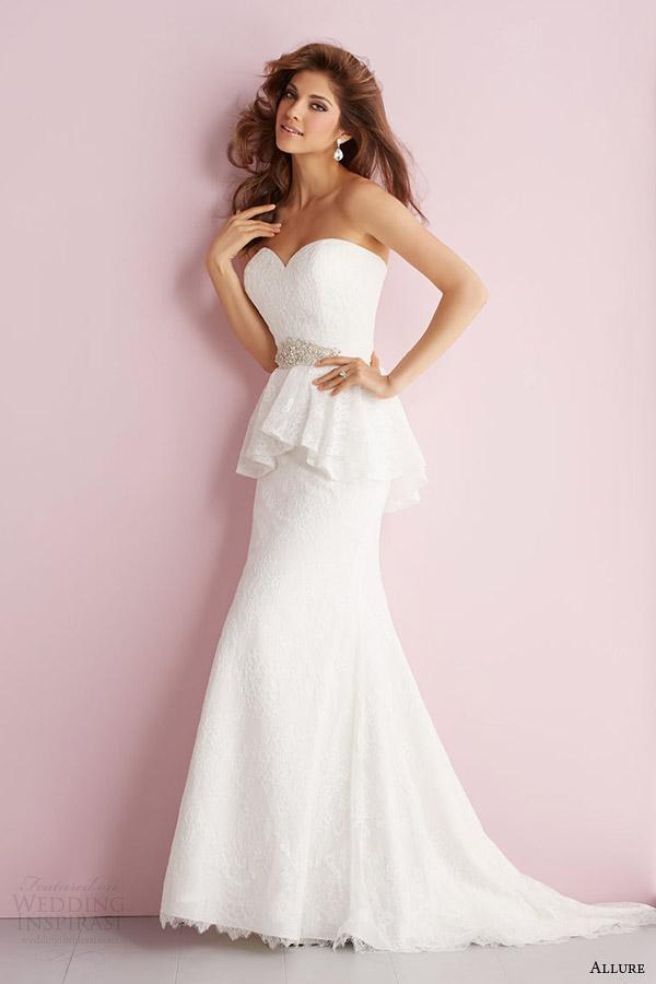 fascínio primavera romance 2014 strapless vestido peplum estilo rendas 2705