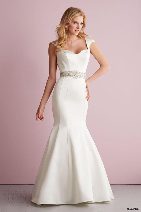 fascínio primavera romance vestido de noiva manga 2014 cap estilo vestido sereia 2717