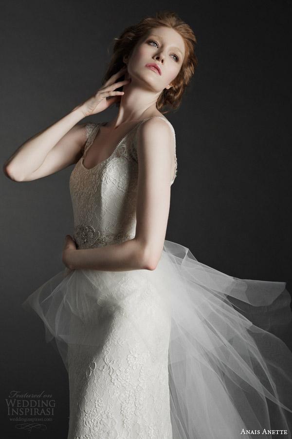 anais anette fall 2014 bridal odette wedding dress close up bodice