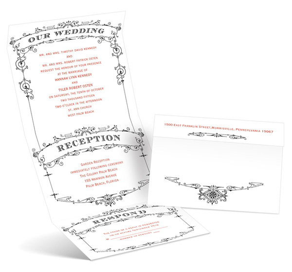 anns bridal bargains invitation cards wedding playbill send and seal invite